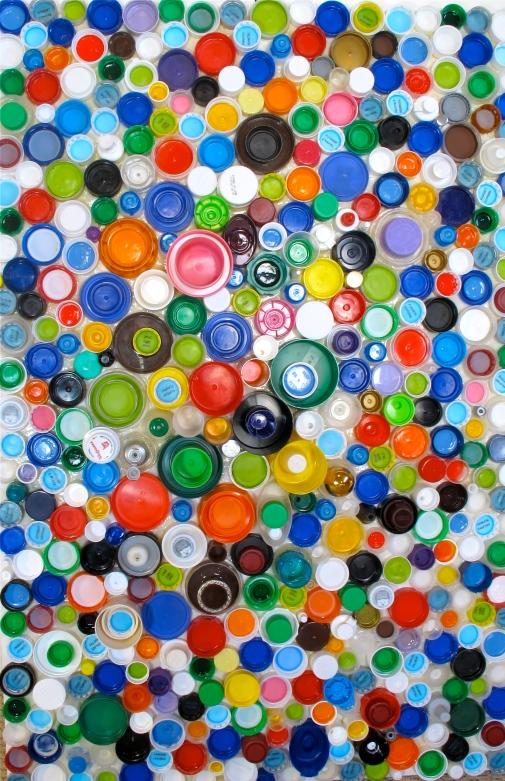 plastic bottle cap art