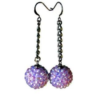 glitter ball dangle earrings