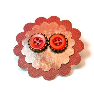 button post earrings