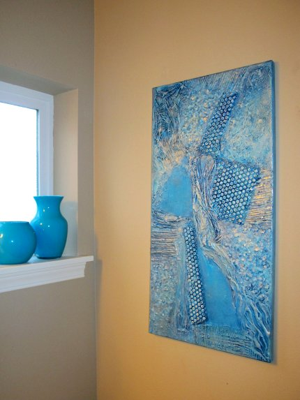 5 diy easy wall art projects blukatdesign handmade for Easy wall painting techniques