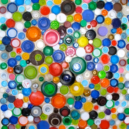 recycled plastic art