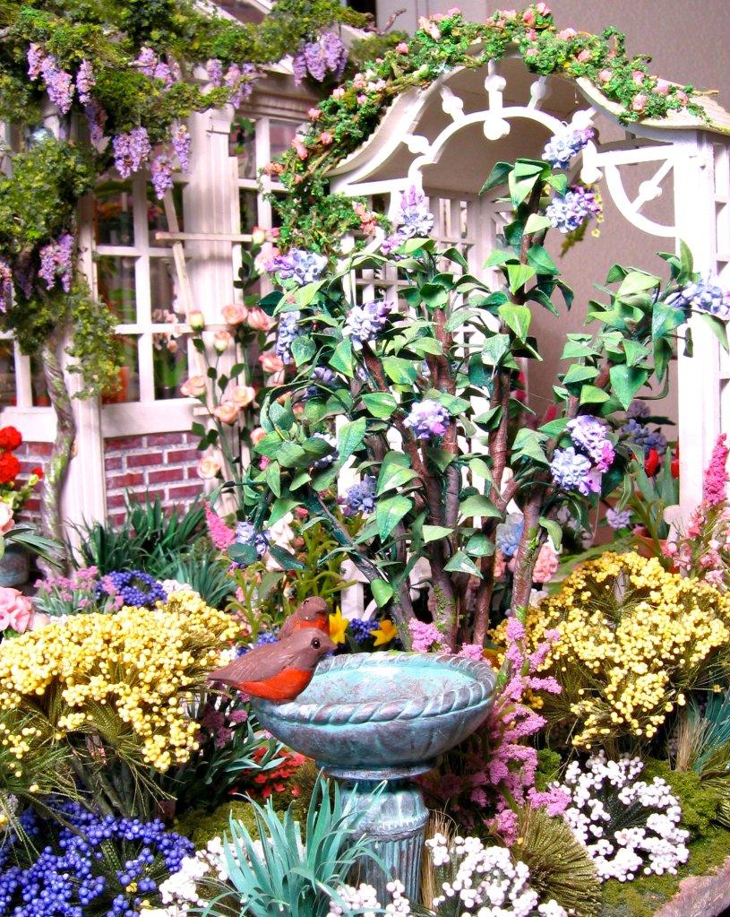Dollhouse Miniatures Spring Garden Feature Blukatdesign