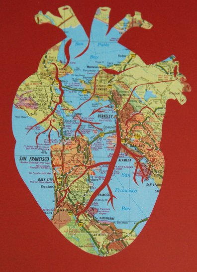 Anatomical Heart Custom Map Art