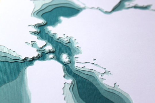 San Francisco Bay Map Art