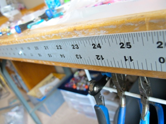 yardstick on workbench