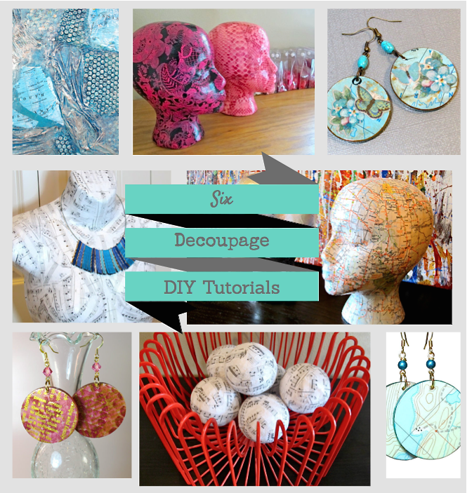 6 diy decoupage crafts tutorials blukatdesign handmade for New handmade craft ideas