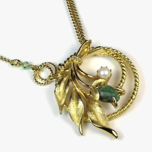 upcycled pendant