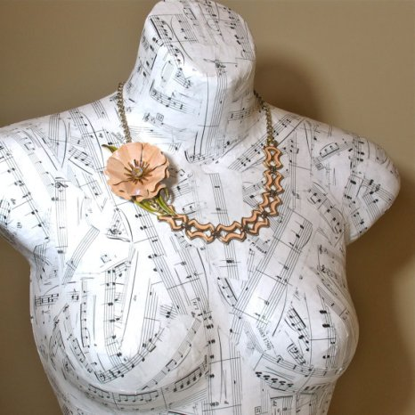 decoupage bust for jewelry display