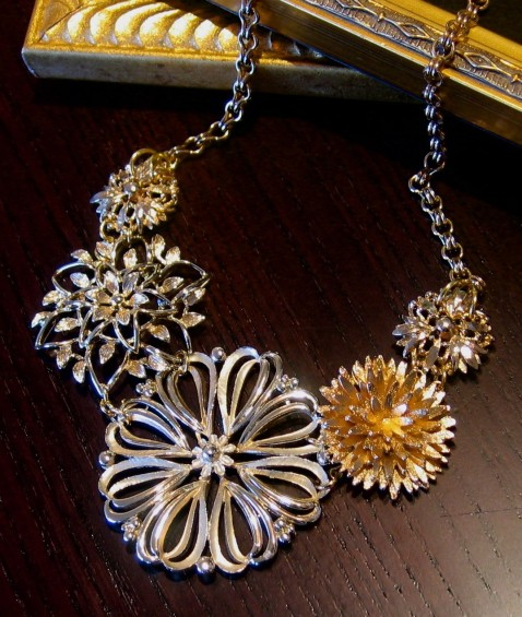 Upcycled Vintage Jewelry Necklace