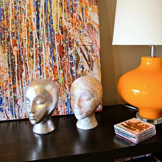 Mannequin head sculptures DIY