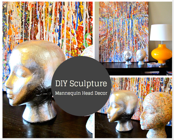 DIY mannequin head sculptures