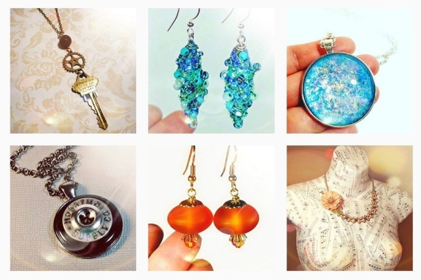 shop handmade artisan upcycled jewelry