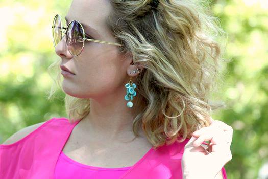 dangling button earrings