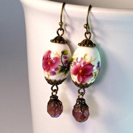 Bead dangle earrings DIY for beginners