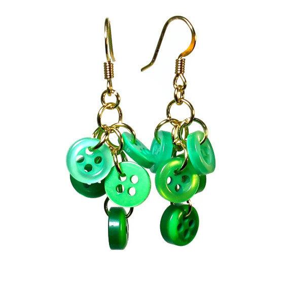 cluster button earrings