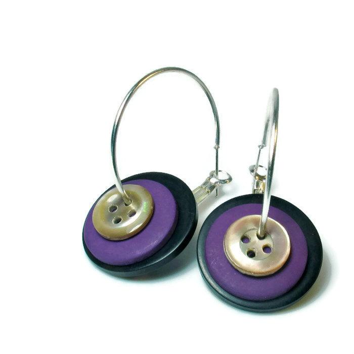 button earrings