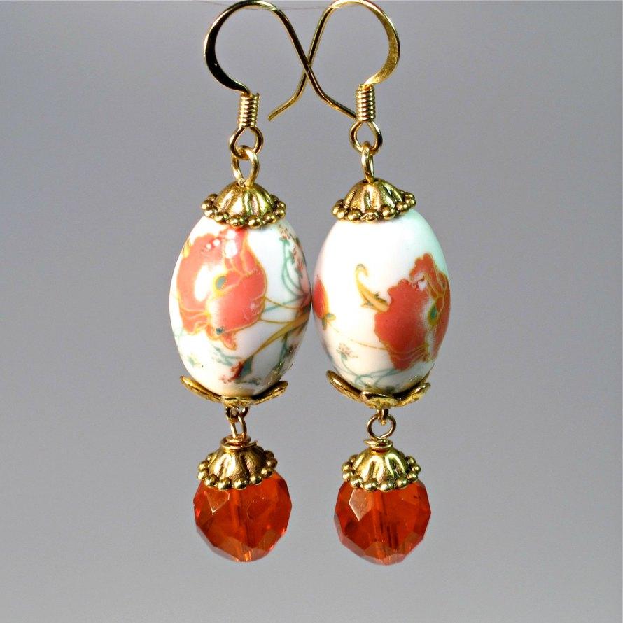 dangling bead earrings