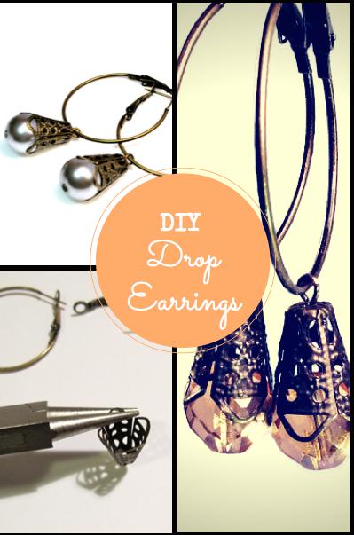 drop earrings tutorial