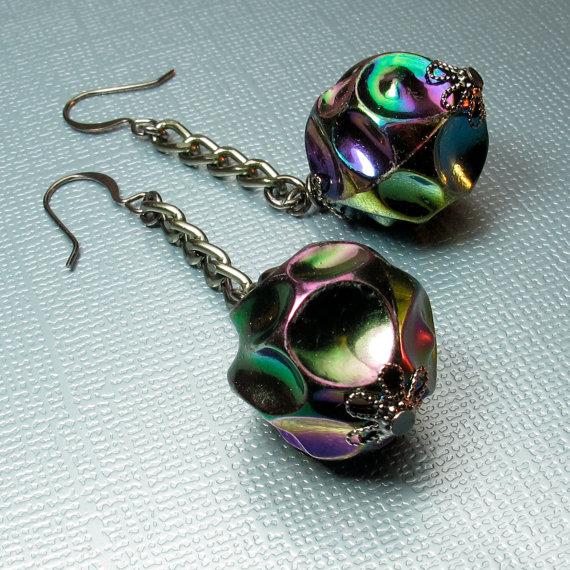 bead dangle earrings
