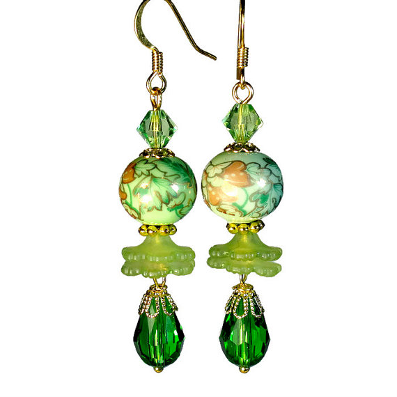 lime green earrings