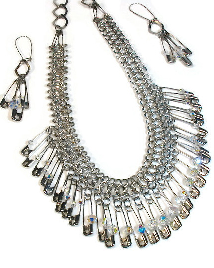 Upcycled Statement Necklaces, Safety Pin Jewelry ...