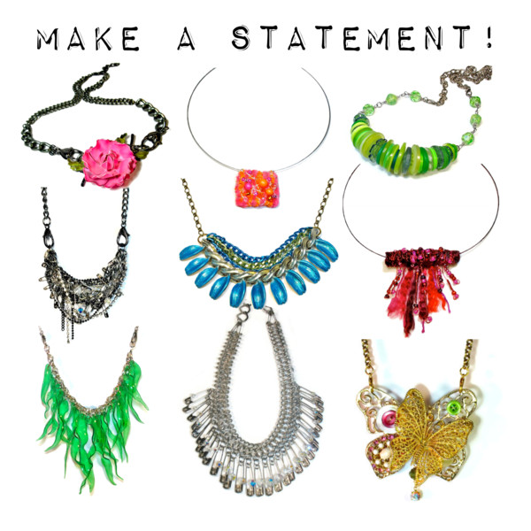 handmade statement necklaces upcycled