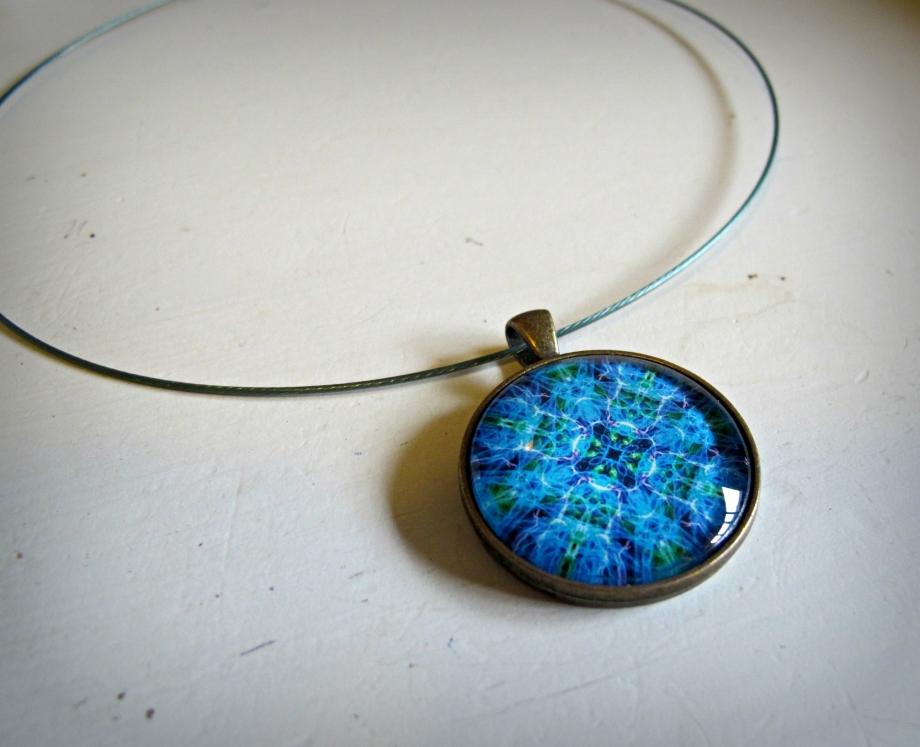 Win this handmade turquoise mandala necklace from BluKatDesign on Etsy!