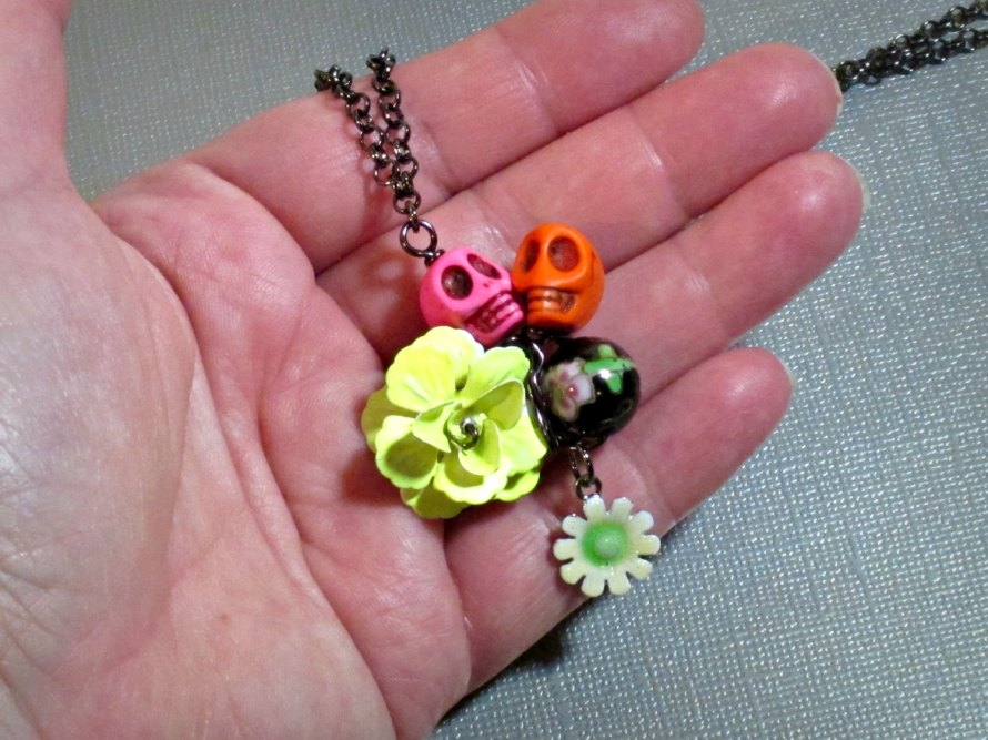 Day of the Dead necklace pendant