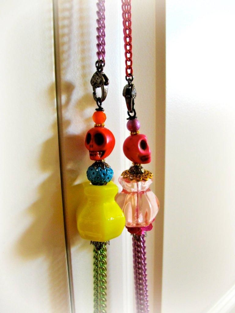 Long skull necklaces