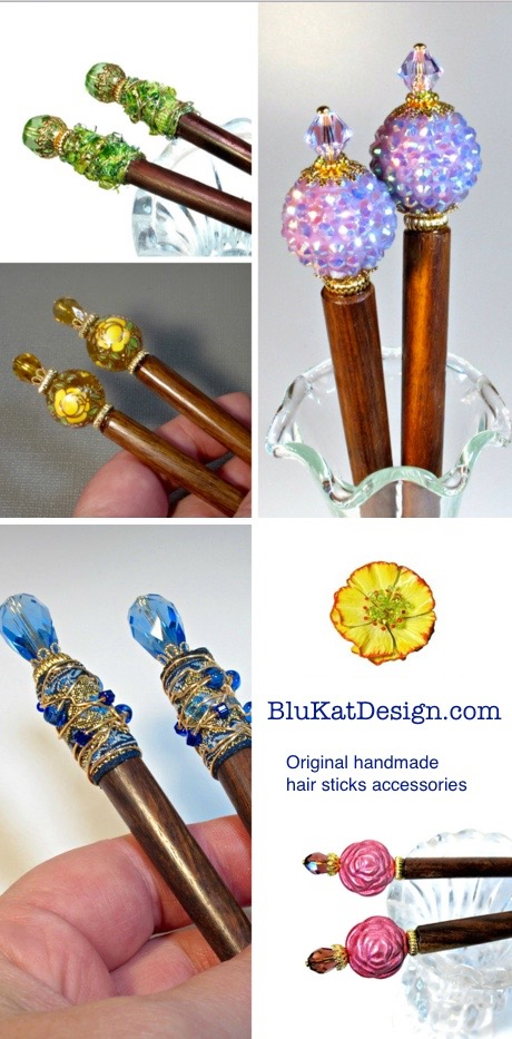 hnadmade hair sticks accessories