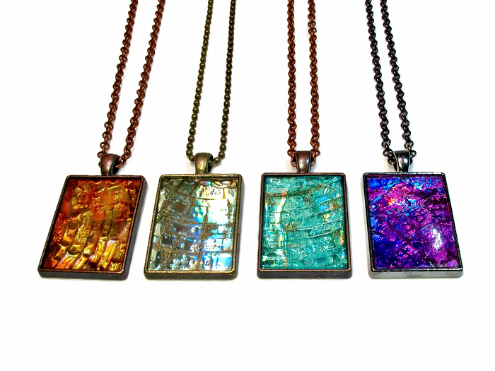 Recycled CD necklace pendants