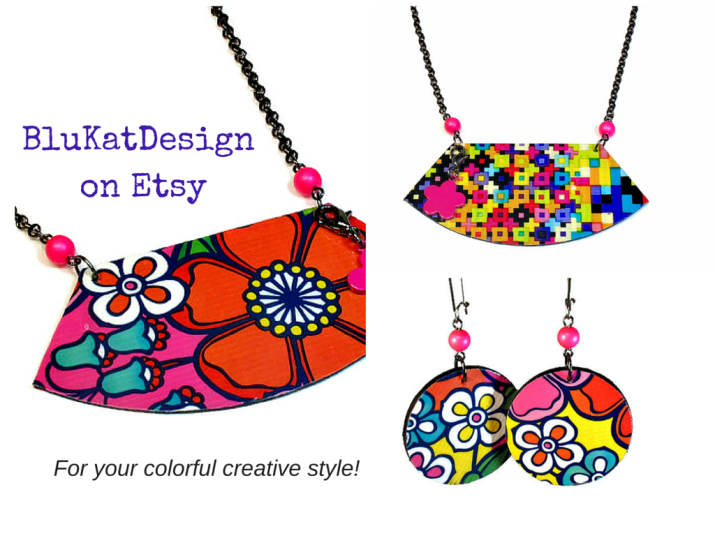 Colorful Jewelry by BluKatDesign on Etsy