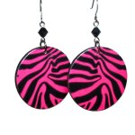 tiger striped earrings animal print
