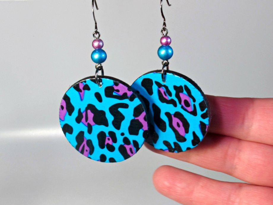 turquoise leopard earrings jewelry