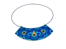 peacock statement necklace earrings set
