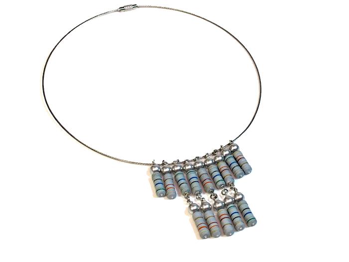 statement necklace reisistors
