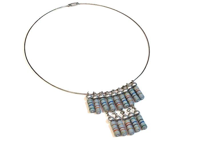 statement necklace reisistors