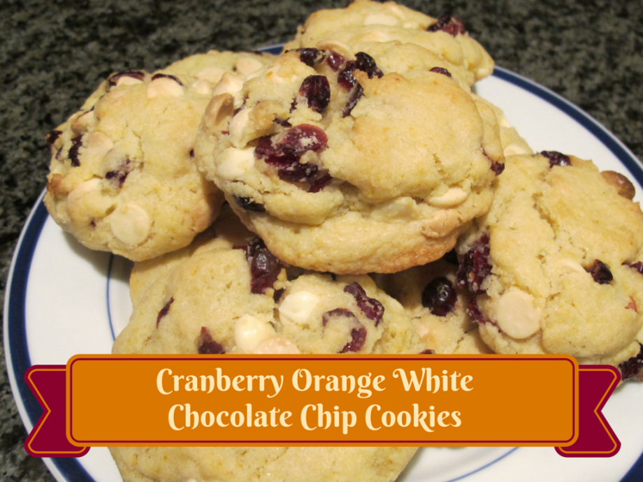 cranberry orange white chocolate chip cookies recipe
