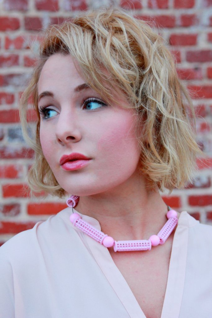 upcycled choker made from vintage hair rollers!