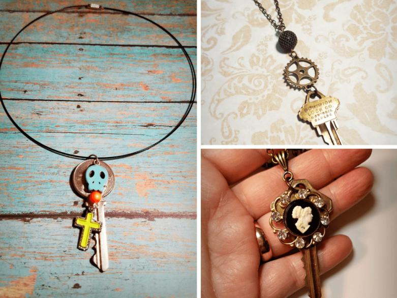 key charm necklaces