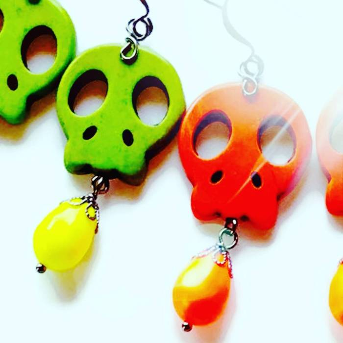 colorful halloween earrings