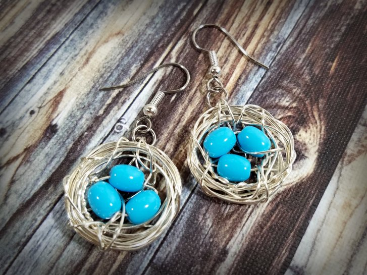 birds nest jewelry earrings