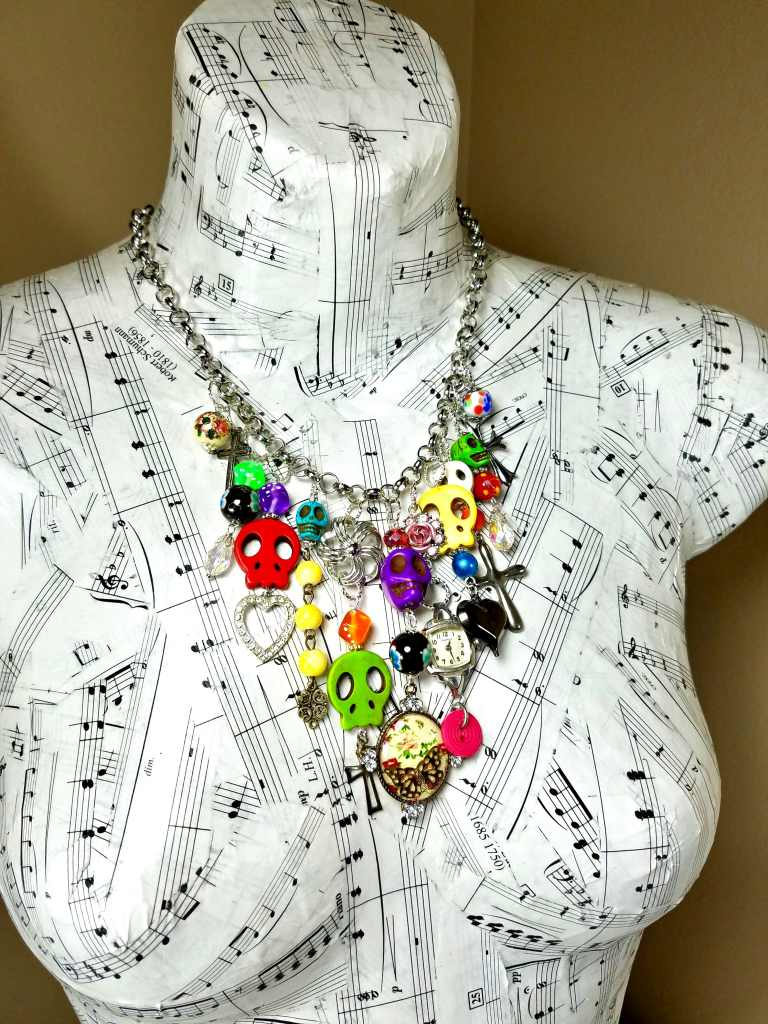 Day of the Dead waterfall charm necklace
