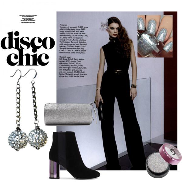 sparkly disco fashion earrings