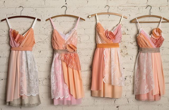 Unique handmade bridesmaid dresses from ArmoursansAnguish
