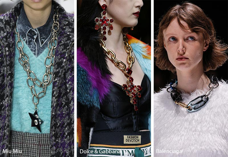 chunky chain 2018-2019 jewelry trends