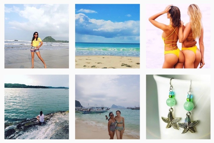 Beach Inspired images from Instagram including sea green starfish earrings
