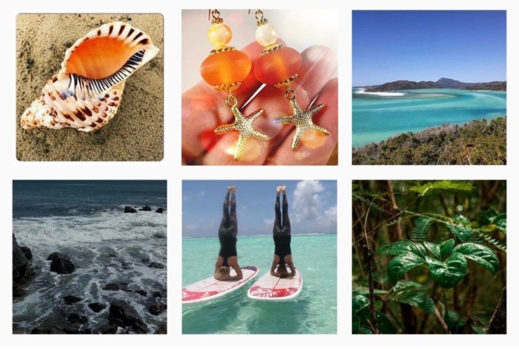Beach Inspired images from Instagram including orange starfish earrings