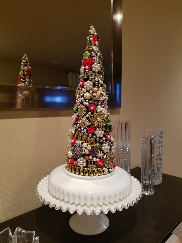Jewelry Christmas Trees.Vintage Jewelry Blukatdesign Handmade Artisan Jewelry