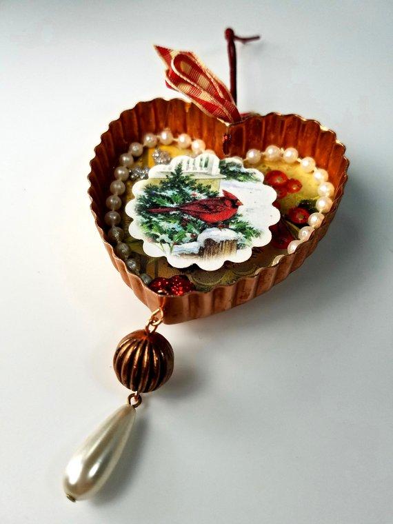 repurposed cookie cutter ornament
